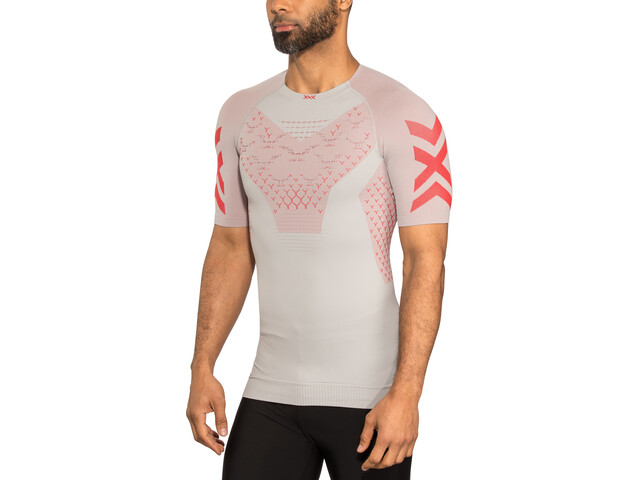 X-Bionic Twyce G2 Run Shirt SS Men dolomite grey/sunset orange